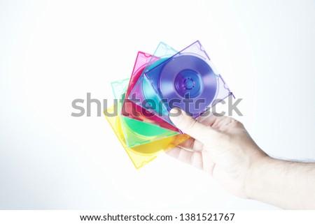 Colorful mini disks - beautiful retro disks