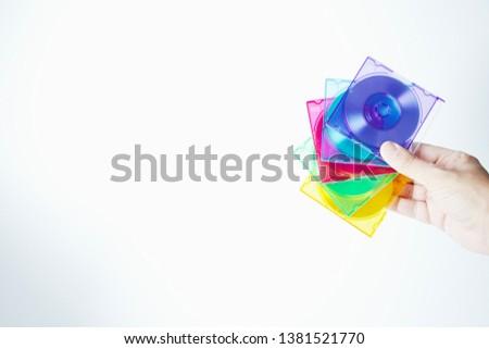 Colorful mini disks - beautiful retro disks #1381521770
