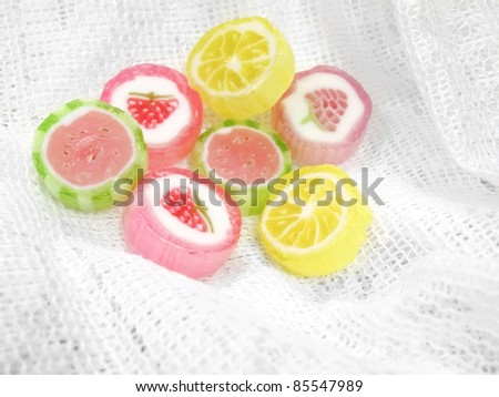 Colorful mix fruit candy