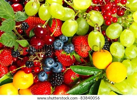 colorful mix of fresh fruits and berries