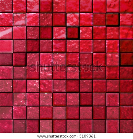 colorful modern mosaic tile in a bathroom red