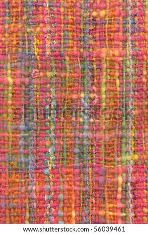 Colorful mohair shawl, detail