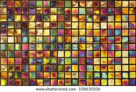 Colorful mosaic background on wall