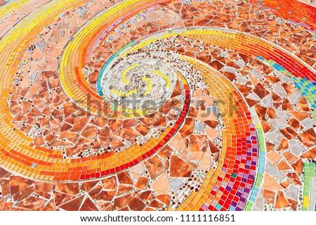 colorful mosaic flooring or walls. #1111116851