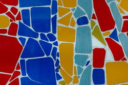 colorful  mosaic texture -red, yellow and blue tiles
