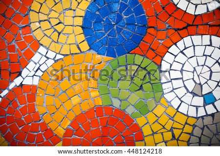 Colorful mosaic tiles #448124218