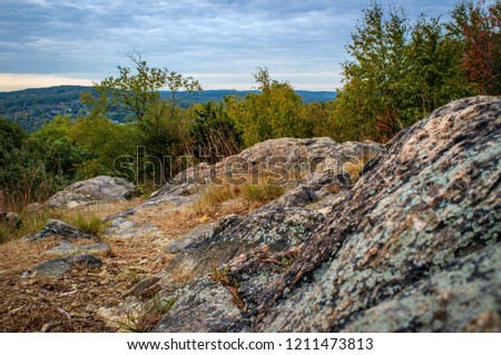 Colorful mountain landscape at Ramapo Reservation in Mahwah, NJ