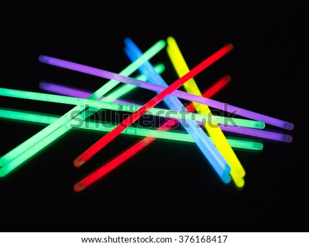 colorful neon light #376168417