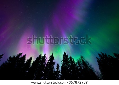 Colorful northern lights #357872939