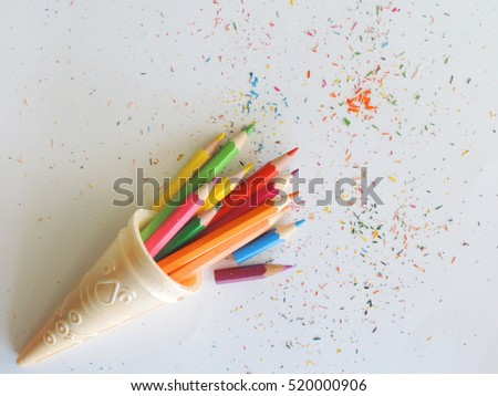 colorful of color pencils.