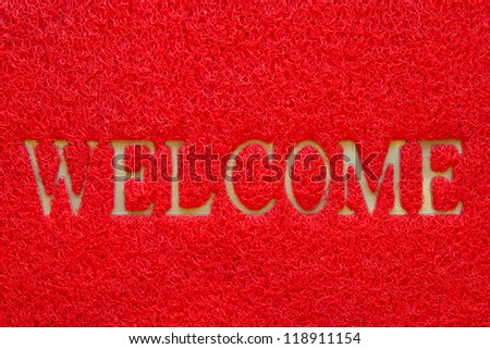 Colorful of Doormat texture, Doormat background