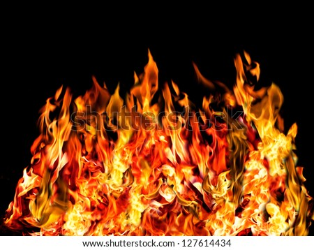 colorful of hot fire - stock photo