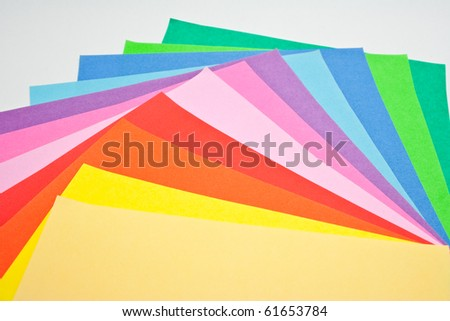 colorful of origami  paper