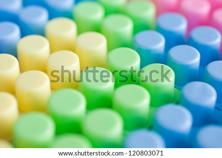 colorful of plastic construction background.
