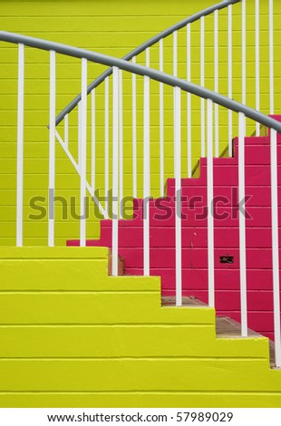 Colorful of stairs. - stock photo