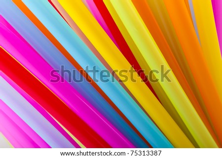colorful of straw