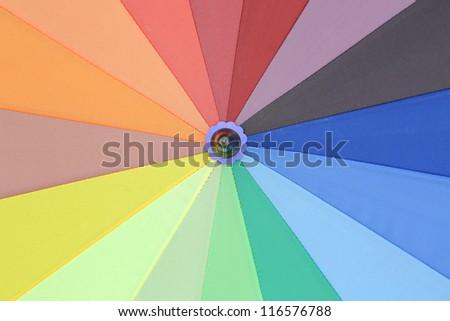 colorful of umbrella - stock photo
