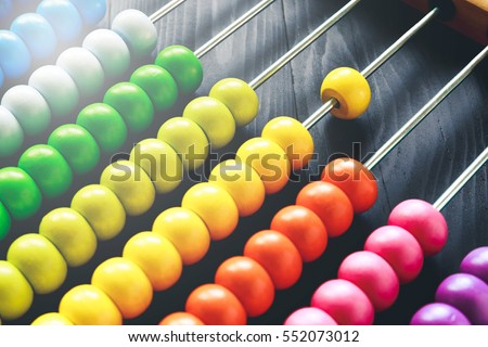 Colorful of wood abacus, background