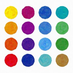 Colorful oil painting hand-painted art illustration : circles (High-resolution 2D CG illustration)