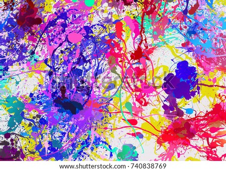 Colorful Oil Painting Texture With Brush Strokes Abstract