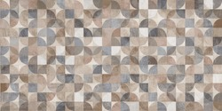 colorful old mixed cement texture with circle pattern, abstract geometric background