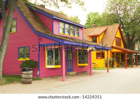 colorful old vibrant houses