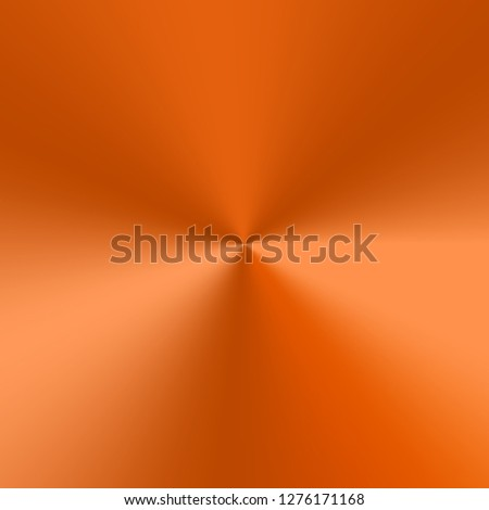 Colorful orange background with metallic texture. Conical gradient with highlights