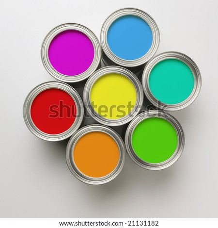 Colorful Paint Cans