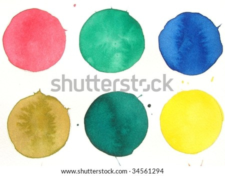 colorful paint circle background