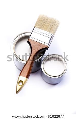 Colorful paint, Paintbrush
