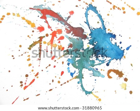 colorful paint splash abstract background