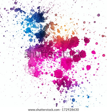Colored Ink Splatters Colorful Paint Splatter on