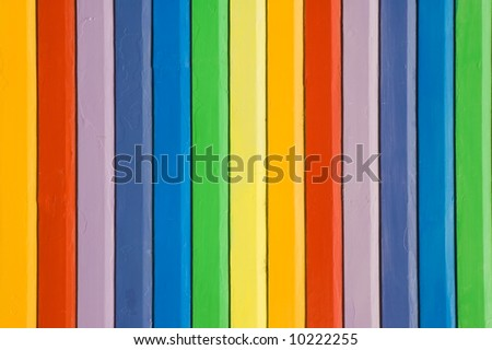 Colorful painted rainbow design