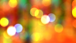 Colorful panoramic background: abstract colorful bokeh / defocused circular facula.  ( 2D rendering computer digitally generated illustration.)