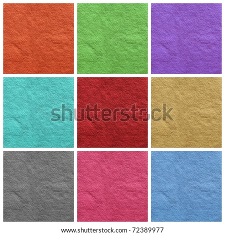 colorful paper collage - stock photo