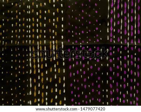 Colorful Papercut Mosaic. Dark Artistic Dirty Pattern. Ethnic Dots Pattern. Artistic pattern. Retro style. Wonderland picture. Pop Art. Golden Dots.