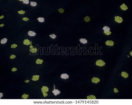 Colorful Papercut Mosaic. Dark Artistic Dirty Pattern. Ornamental dots design. Night colors pattern. Modern Texture Fantastic world. Pop Art. Chaotic dots and blobs.