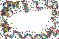 colorful party deco on white background
