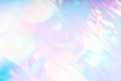 Colorful pastel futuristic funky fantasy abstract holographic background.
