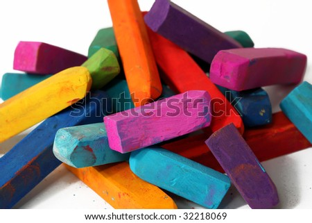colorful pastel sticks