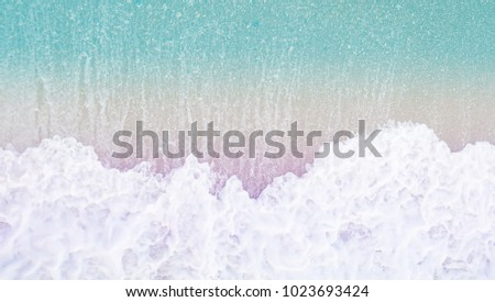 Colorful pastel  top view beach  #1023693424