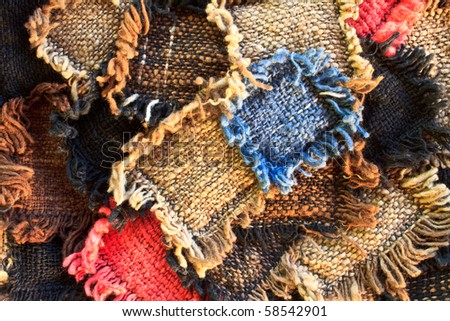 Colorful patchwork quilt, possible use to background