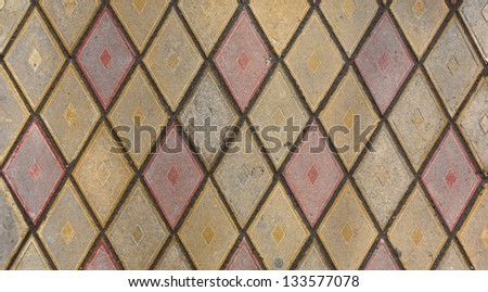 Colorful pavement tiles texture background