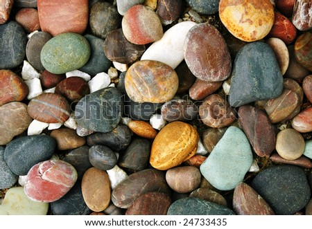 colorful pebble stone background