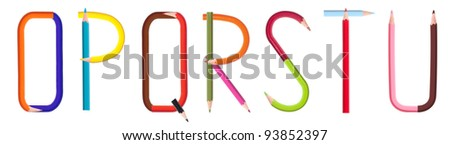colorful pencil alphabet #3