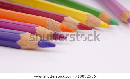 Colorful pencil color isolated on white #718892536