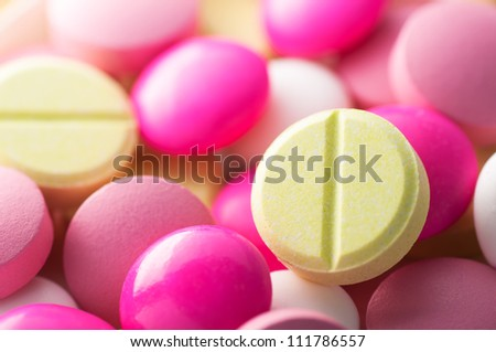 Colorful pills background