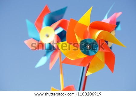Colorful pinwheel for kids - Shutterstock ID 1100206919