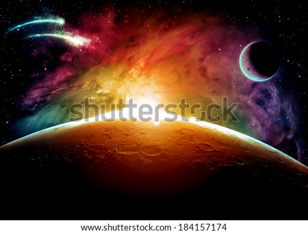 Colorful Planet Surface