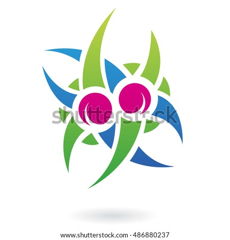 Colorful plant icon and design element #486880237